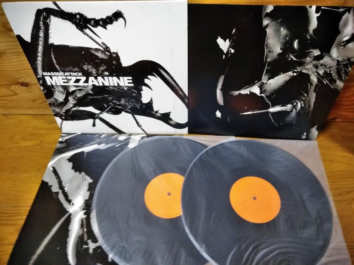 美品 Massive Attack Mezzanine オレンジラベル2枚組 LP WBRLP4 7243 8 45599 1 5 Trip Hop, Downtempo オルタナLP 90s INDIE LP