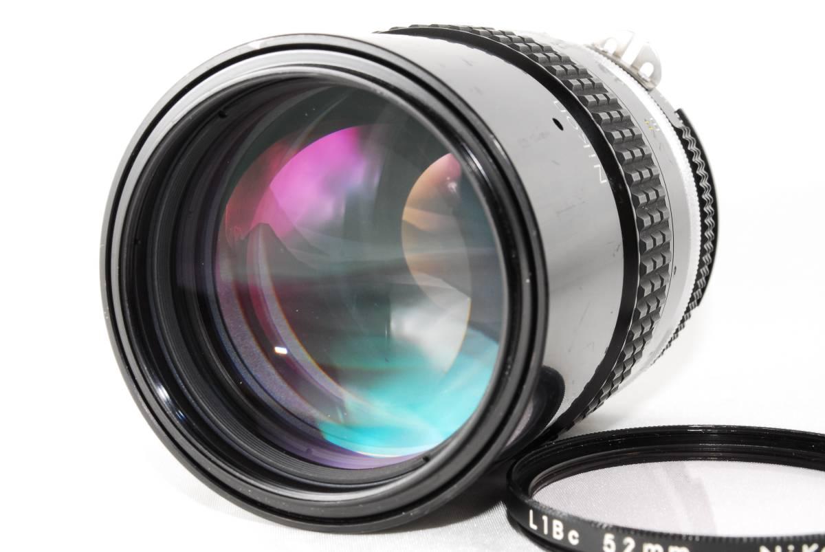 【美品】 ニコン NIKON ai 135mm F2.8 NIKKOR MF 単焦点レンズ フィルター付