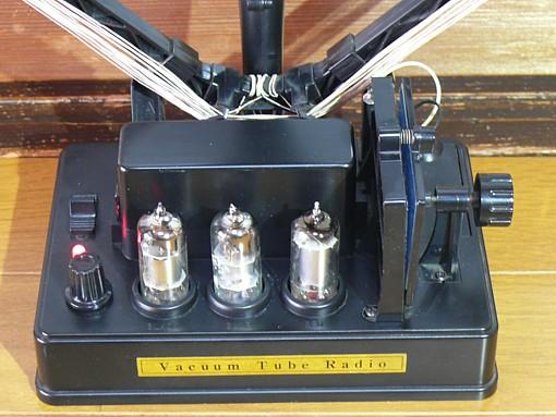 真空管ラジオ 再生式ラジオ 電池管 学研 レトロラジオ オブジェ 電池管ラジオ_画像2