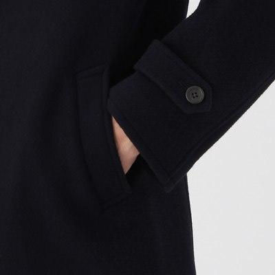 定価1.5万 即決 新品 MUJI 無印良品 フレンチウール混メルトンジャケット アウター コート ダークネイビー Mサイズ メンズ 紳士 仏産ウール_画像5