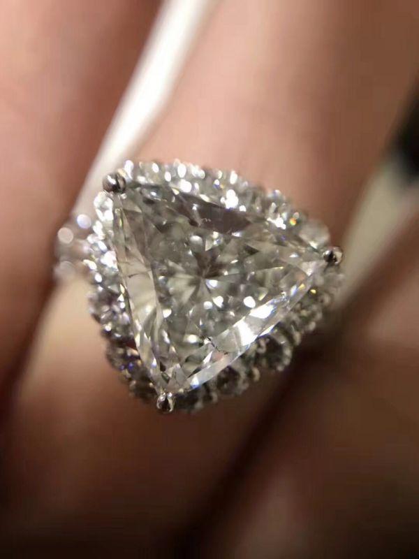 再落なし!! ダイヤ リング DIAMOND PT900  ダイヤモンド 3.805ct! GカラーUP!