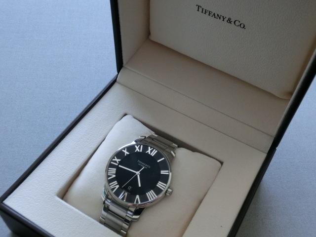 TIFFANY&Co.★ティファニー [アトラスドーム] オート XL メンズ 腕時計【Z1810.68.10A10A00A】黒文字盤 自動巻き ★超美品_画像2