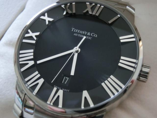 TIFFANY&Co.★ティファニー [アトラスドーム] オート XL メンズ 腕時計【Z1810.68.10A10A00A】黒文字盤 自動巻き ★超美品_画像3
