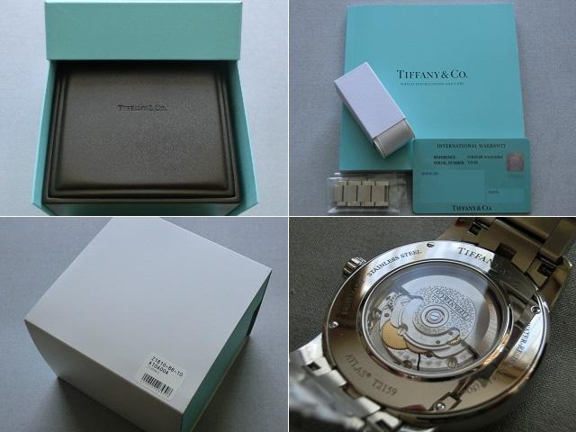 TIFFANY&Co.★ティファニー [アトラスドーム] オート XL メンズ 腕時計【Z1810.68.10A10A00A】黒文字盤 自動巻き ★超美品_画像9