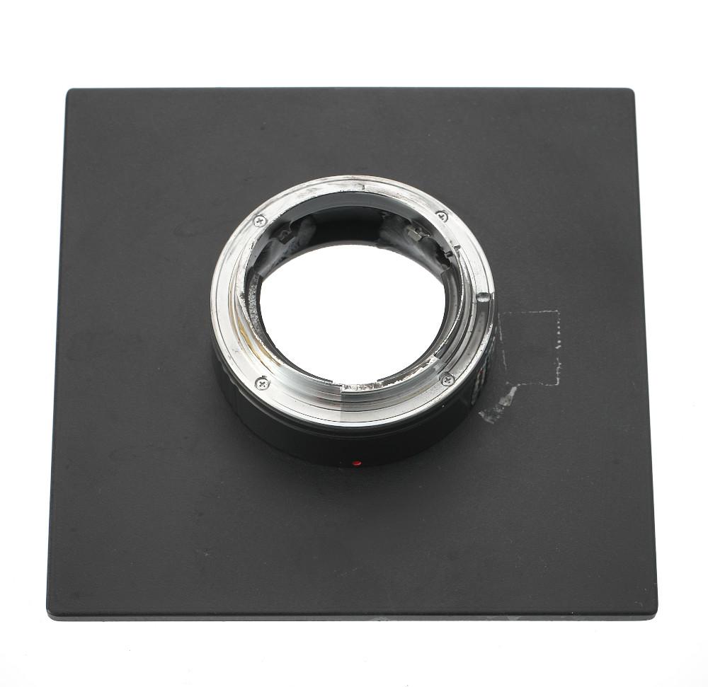ホースマン・ジナー規格140mm角ボードにEOSカメラ用EFマウント(オス)を取り付けたボード、自作なのでジャンク扱い_画像3
