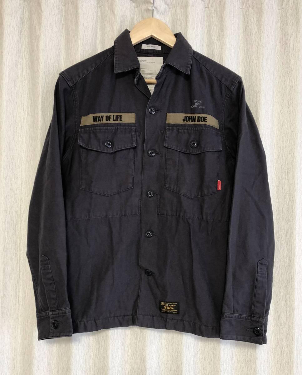 名作☆[wtaps] 11AW BUDS L/S ヴィンテージ加工ミリタリーシャツ 1 ダブルタップス_画像1