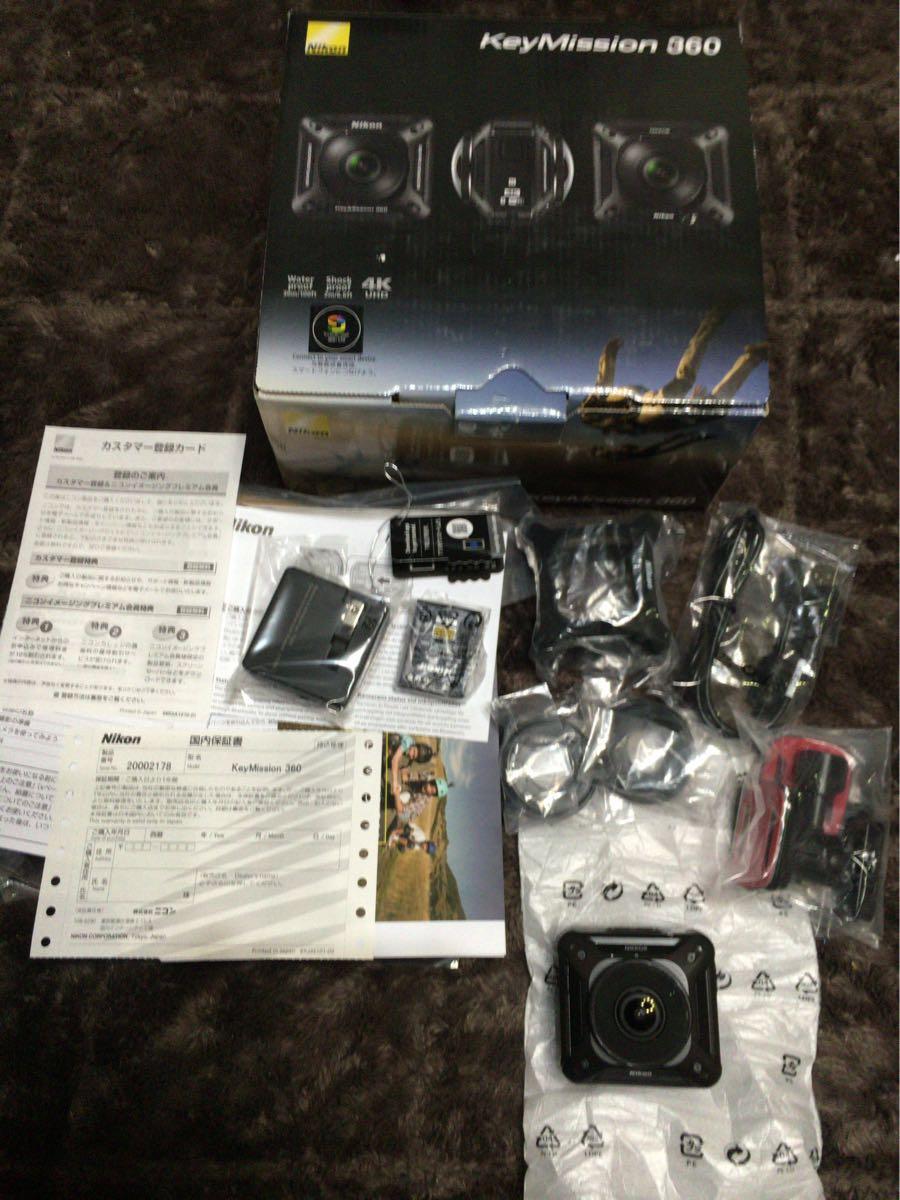 Nikon 防水アクションカメラ KeyMission 360 BK ブラック 在庫数: 1