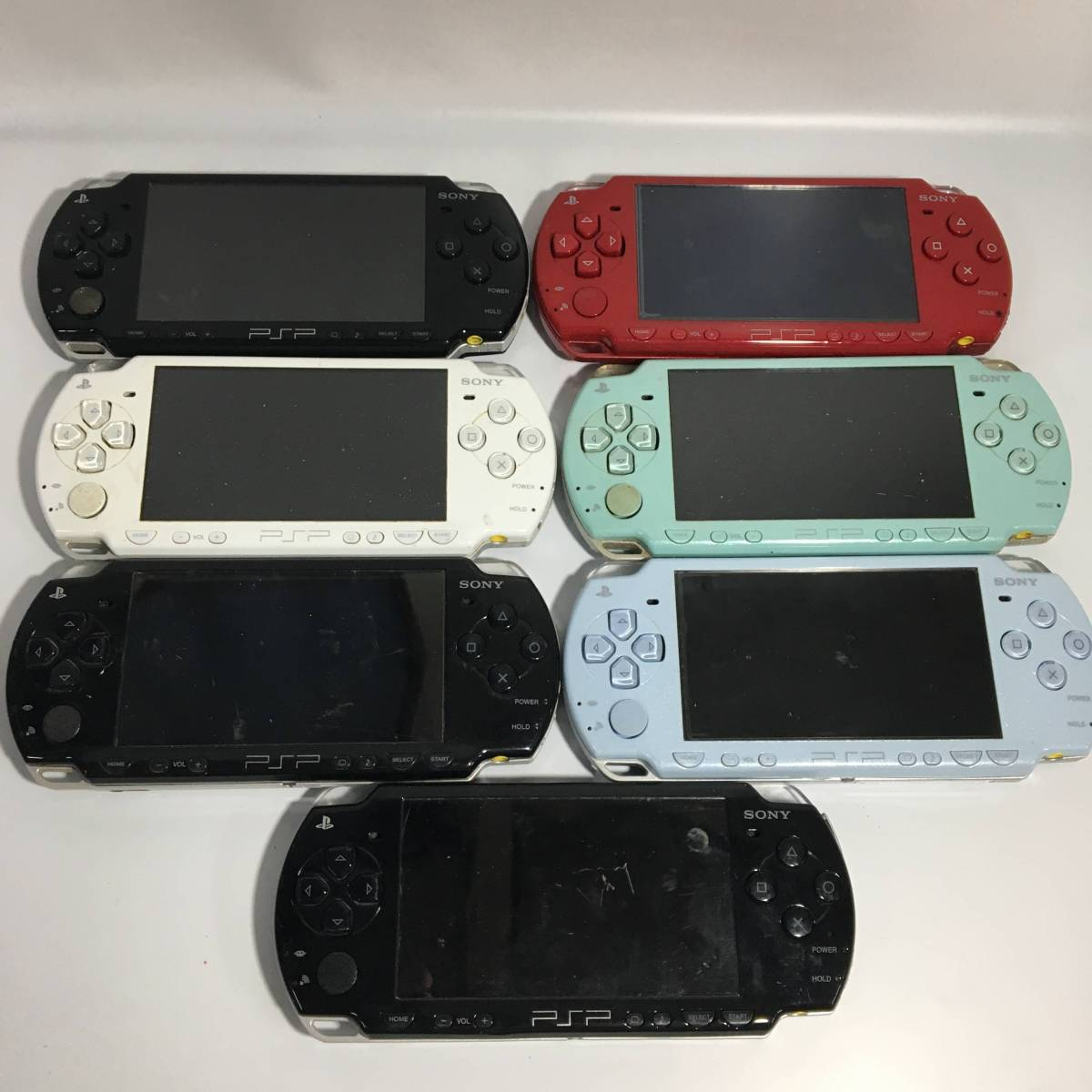 【ジャンク】PSP 本体 まとめ セット 1000 2000 3000 計22台 中古 ゲーム機 ソフト_画像4