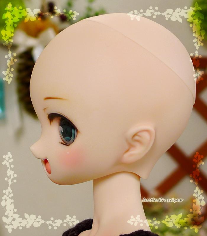 *ぞるぎや* DDH-01 セミホワイト肌 開口カスタムヘッド(+アイ1種)_画像8