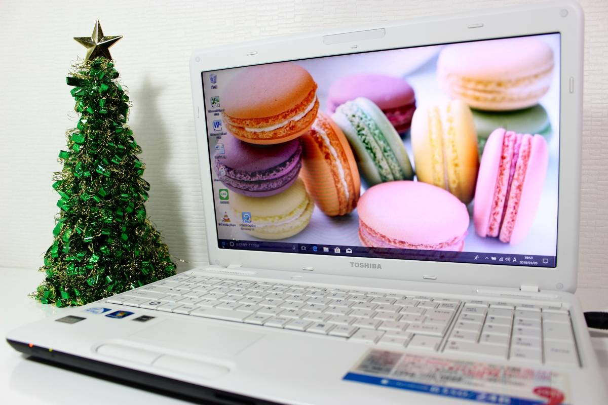 【最新Windows10】東芝 B350/24B☆Dual-Core☆HDD640GB/メモリ8GB/office2010☆itunes☆L