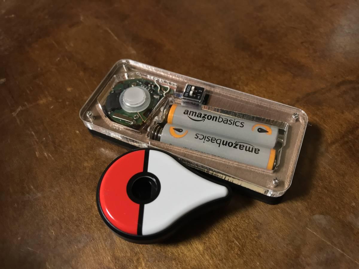 [iOS対応](加工依頼) ICチップ制御 自動化改造 ポケモンGOプラス Pokemon GO Plus 自動 バイブ オン/オフ Android iPhone 単4電池_画像2
