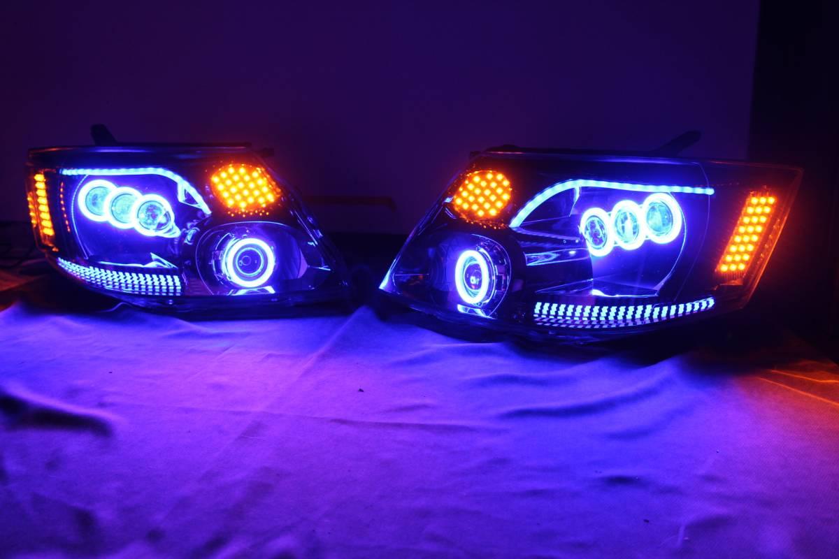 10系 アルファード前期 ヘッドライト COBリング LS600 FLUX 送料無料
