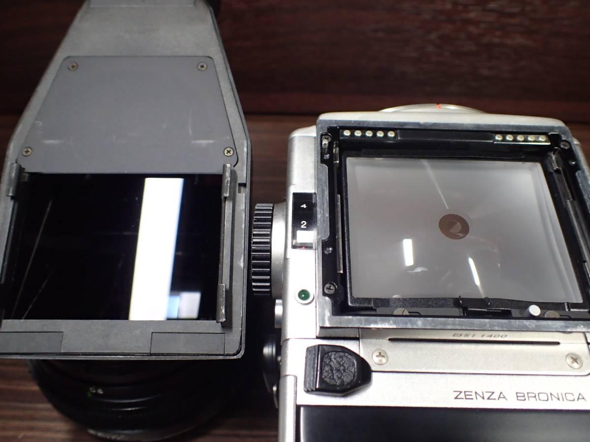 BRONICA ETR ブロニカ + ZENZANON MC 75mm 2.8 訳アリ _画像7
