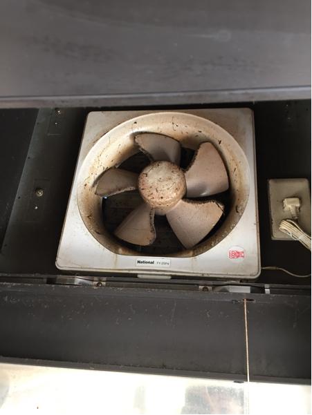 キッチン ステンレス 換気扇 ナショナル ガスコンロ システムキッチン_画像3
