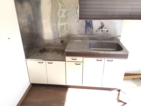 キッチン ステンレス 換気扇 ナショナル ガスコンロ システムキッチン