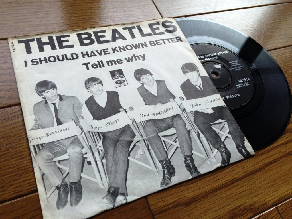 ☆レア!デンマーク シングル盤☆ BEATLES  I Should Have Known Better / Tell Me Why_画像2