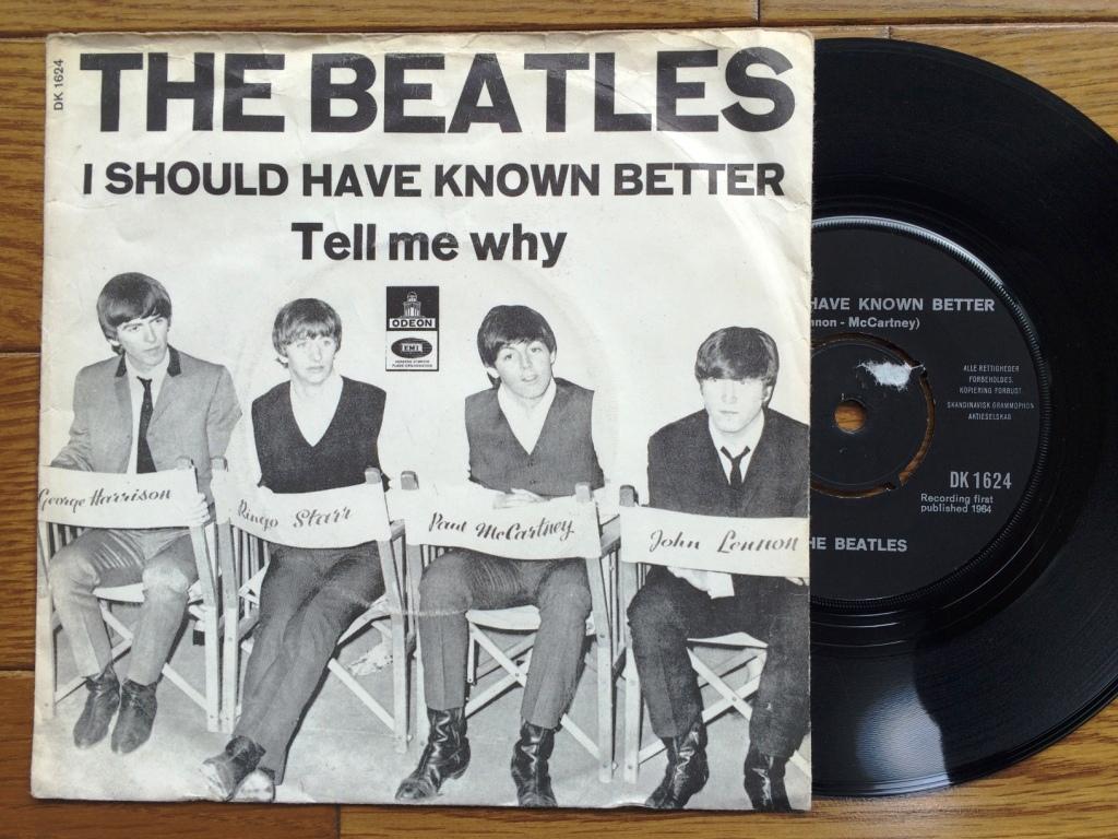 ☆レア!デンマーク シングル盤☆ BEATLES  I Should Have Known Better / Tell Me Why