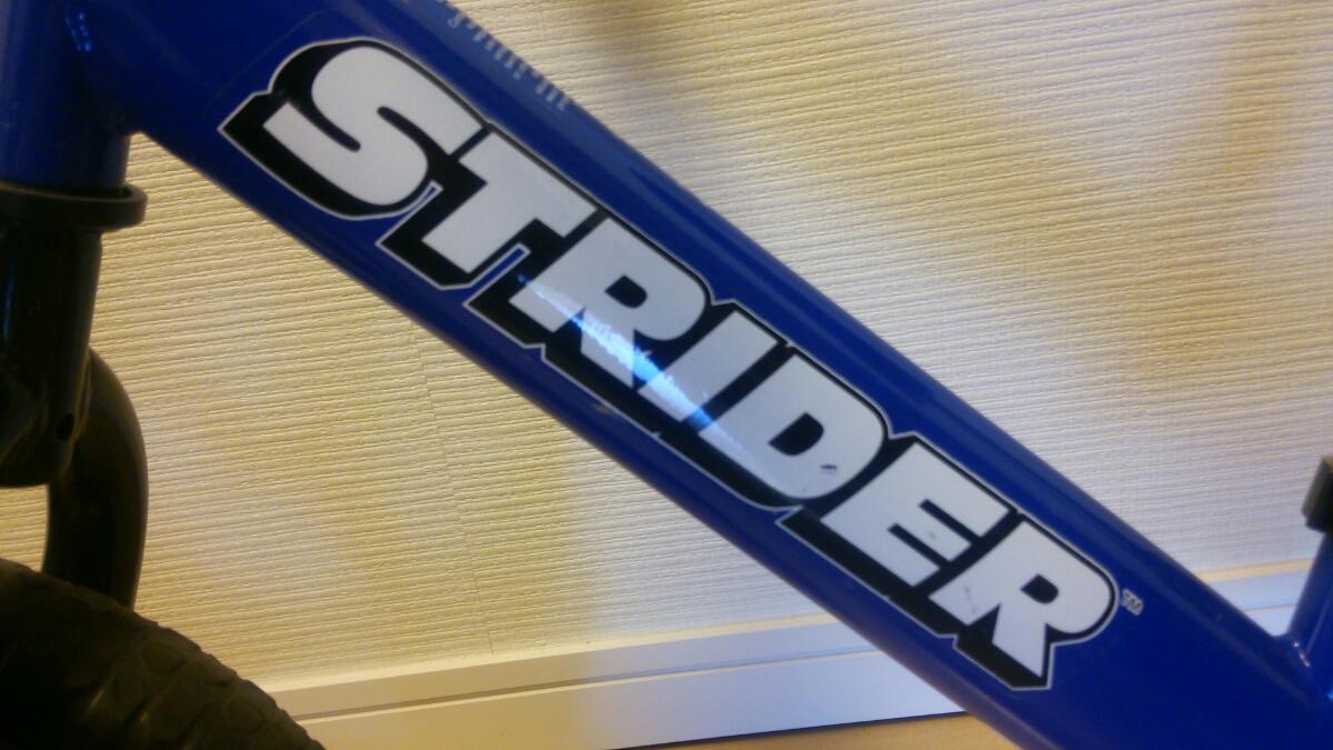 【良品】ストライダー 青 子ども用 バランスバイク_画像3