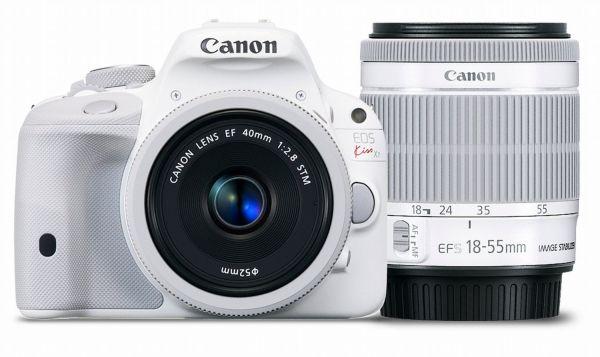 新品保証付☆Canon EOS Kiss X7(ホワイト) ダブルレンズキット2 EF-S18-55mm F3.5-5.6 IS STM