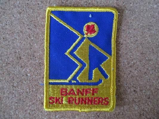 90s BANFF SKI RUNNERS カナダ 刺繍 ワッペン ビンテージ /スキー ウィンタースポーツ パッチ カスタム Gジャン 古着 アメカジ_画像1