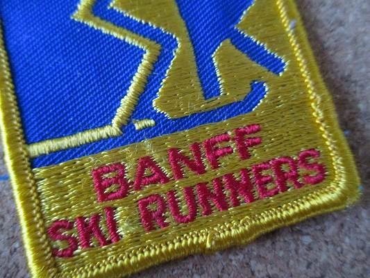 90s BANFF SKI RUNNERS カナダ 刺繍 ワッペン ビンテージ /スキー ウィンタースポーツ パッチ カスタム Gジャン 古着 アメカジ_画像3