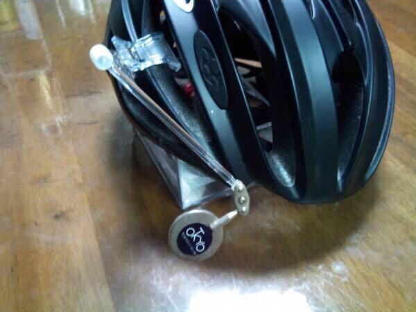 数量限定! クリップ式ヘルメットミラー_樹脂製ロッドなのである程度は振動します