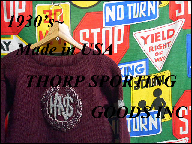 《 1930s~ THORP SPORTING GOODS INC 》