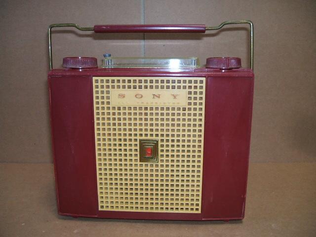 ソニー/SONY SW/BC 2BAND 7石トランジスタラジオ TR-74 昭和30年代_画像2