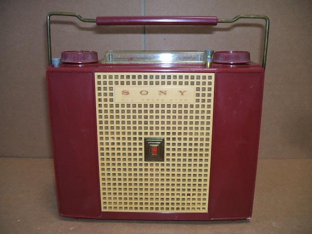ソニー/SONY SW/BC 2BAND 7石トランジスタラジオ TR-74 昭和30年代
