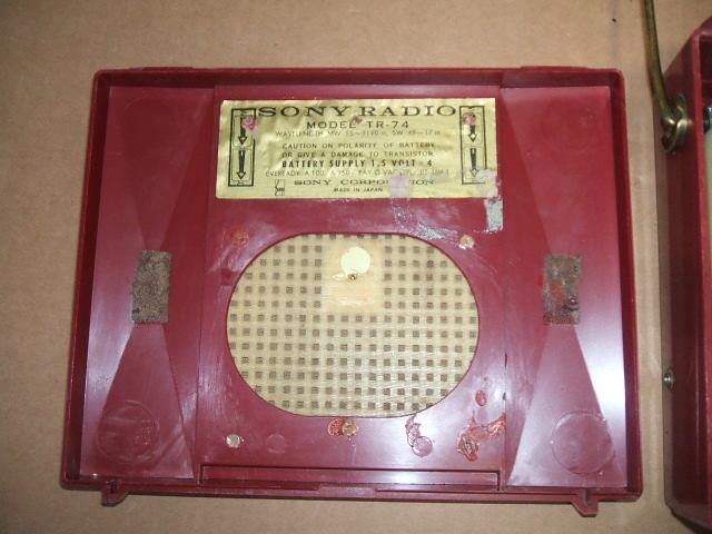 ソニー/SONY SW/BC 2BAND 7石トランジスタラジオ TR-74 昭和30年代_画像7