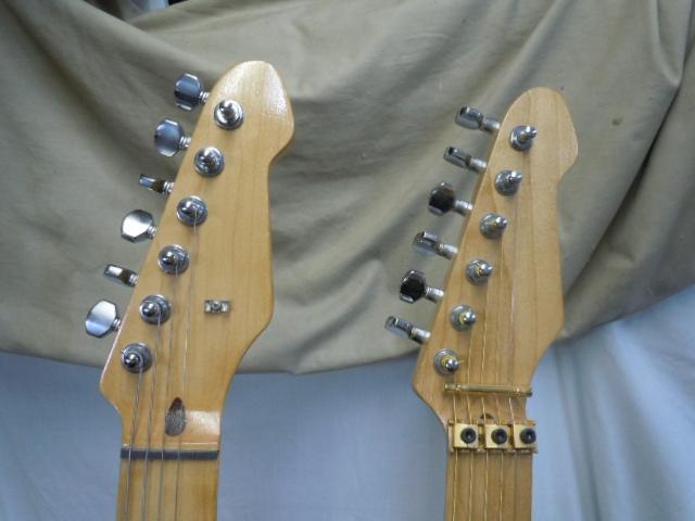 エレキギター ダブルネック メーカー名無し/ 弦ロック式 フロイドローズブリッジ/Fender ペグ_画像3