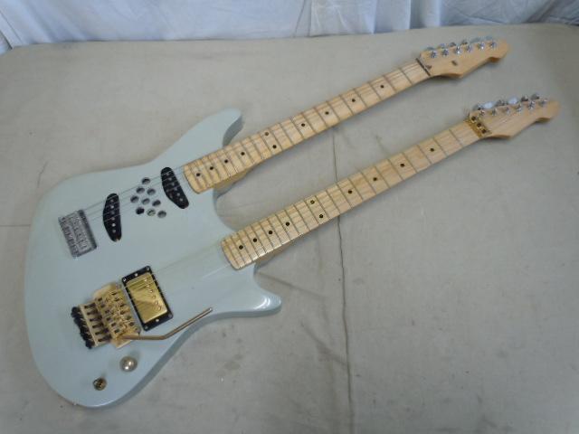 エレキギター ダブルネック メーカー名無し/ 弦ロック式 フロイドローズブリッジ/Fender ペグ