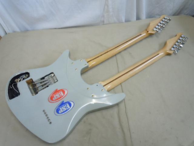 エレキギター ダブルネック メーカー名無し/ 弦ロック式 フロイドローズブリッジ/Fender ペグ_画像8