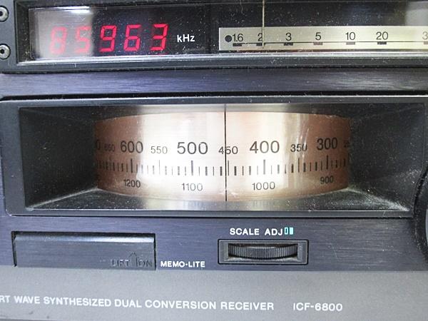 04/230-09◆ SONY ソニースカイセンサー ICF-6800 BCL ラジオ_画像3