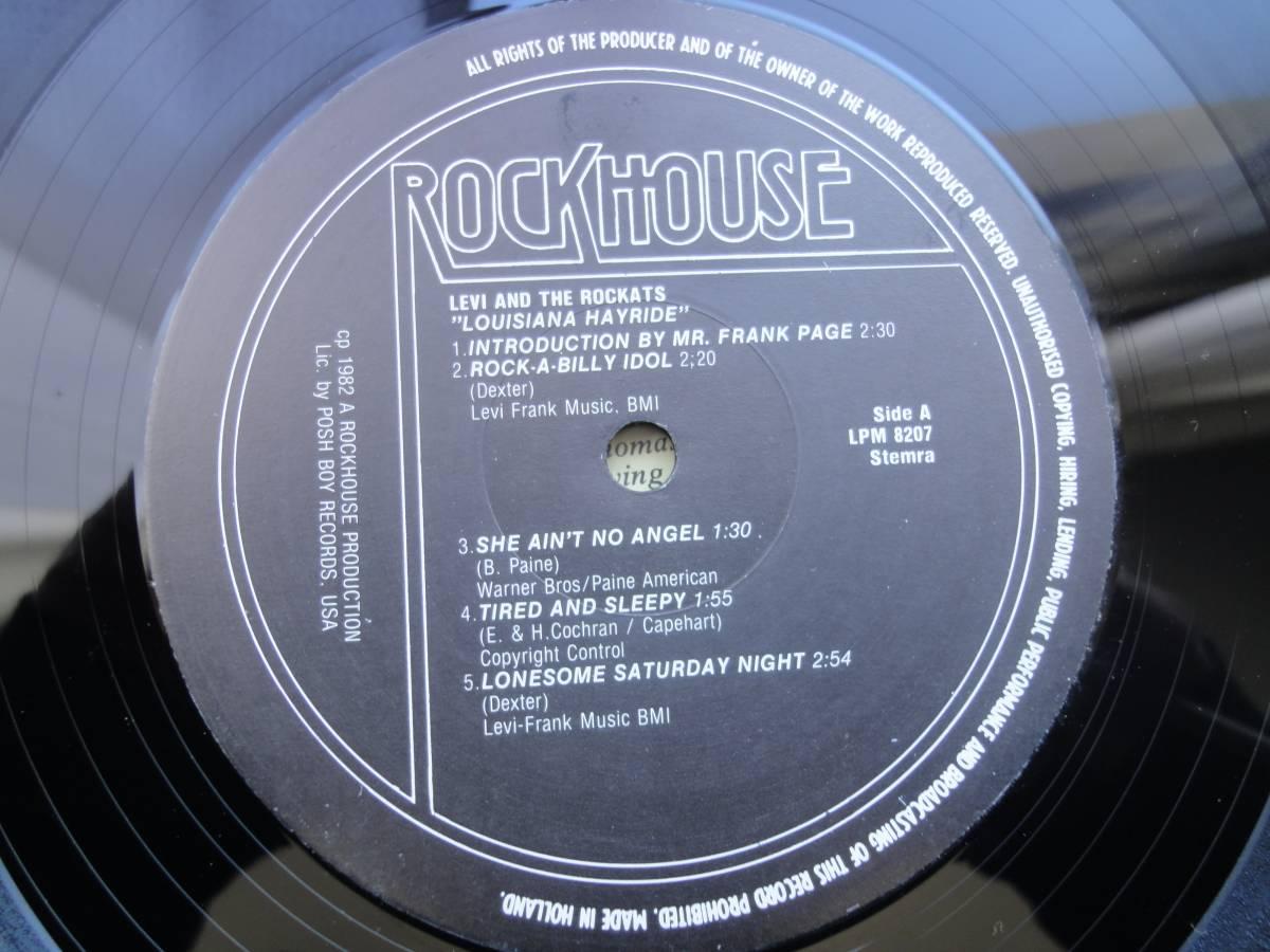 ★ LEVI THE ROCKATS LP オリジナル盤 ネオロカ サイコビリー ロックンロール パンク CLASH ALL sa レア盤 RANCID 666 ロカビリー_画像5