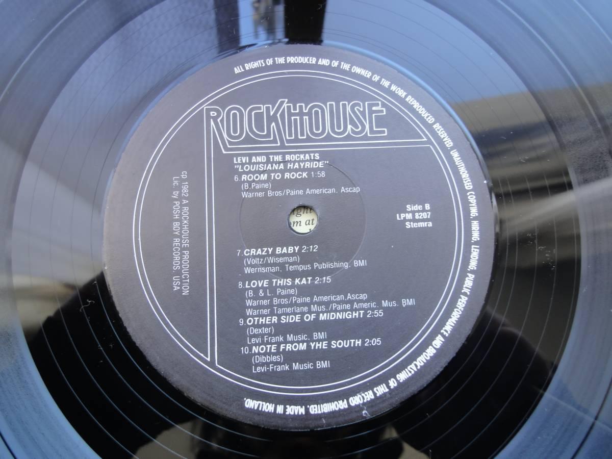 ★ LEVI THE ROCKATS LP オリジナル盤 ネオロカ サイコビリー ロックンロール パンク CLASH ALL sa レア盤 RANCID 666 ロカビリー_画像7