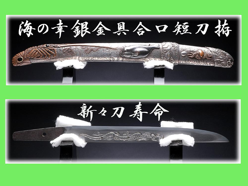 【重文級】天才金工師 赤城軒元孚 海の幸 銀造短刀拵
