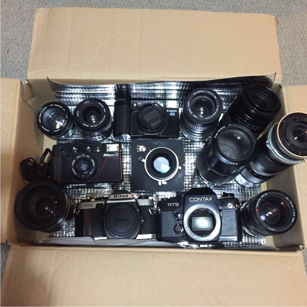 Nikon contax sigma fujinon tokina at-x ニコン コンタックス フジノン フィルムカメラ レンズ ジャンク出品