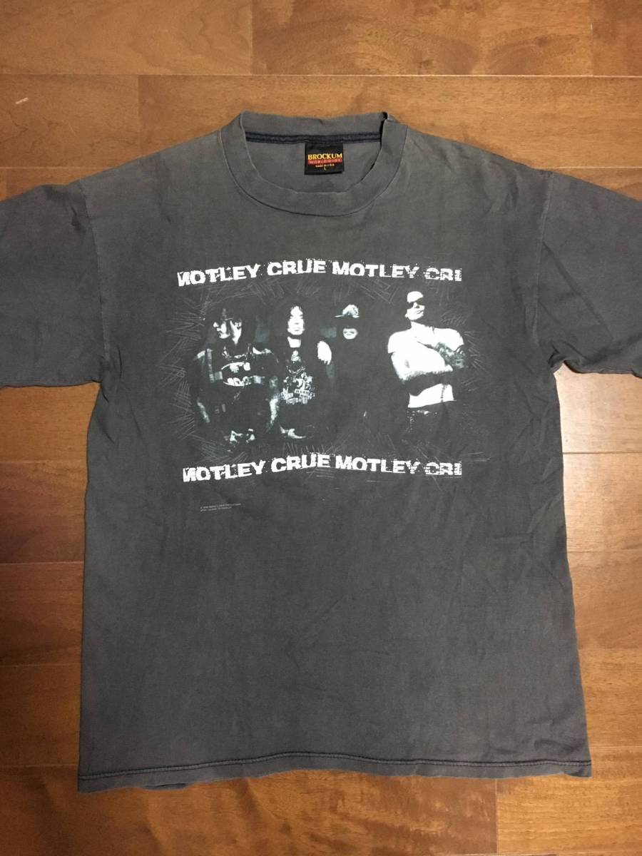 ビンテージ 超激レア ロックTシャツ MOTLEY CRUE モトリークルー 1991 黒 古着 バンドTシャツ Lサイズ vintage guns'n roses USA