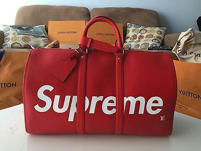 Louis Vuitton × Supreme 【本物新品】ルイヴィトン シュプリーム ボストンバッグ赤