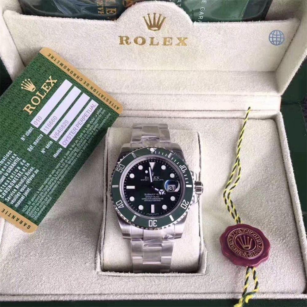 ロレックス サブマリーナ グリーン デイト ランダム シリアル ルーレット 116610LV ROLEX 腕時計