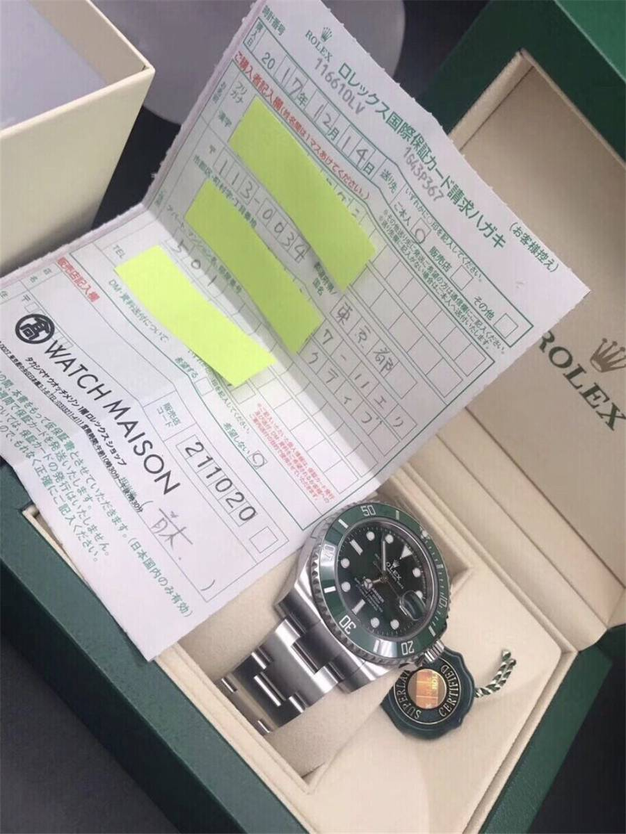 ロレックス サブマリーナ グリーン デイト ランダム シリアル ルーレット 116610LV ROLEX 腕時計_画像2