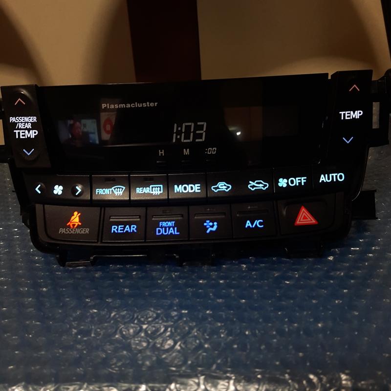 アルファード/ヴェルファイア 前期型 ANH20W LED打ち変え済み エアコンスイッチパネル完成品!
