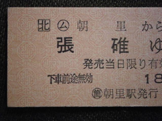 JR北海道 (ム)朝里から張碓ゆき切符(未使用)_画像2