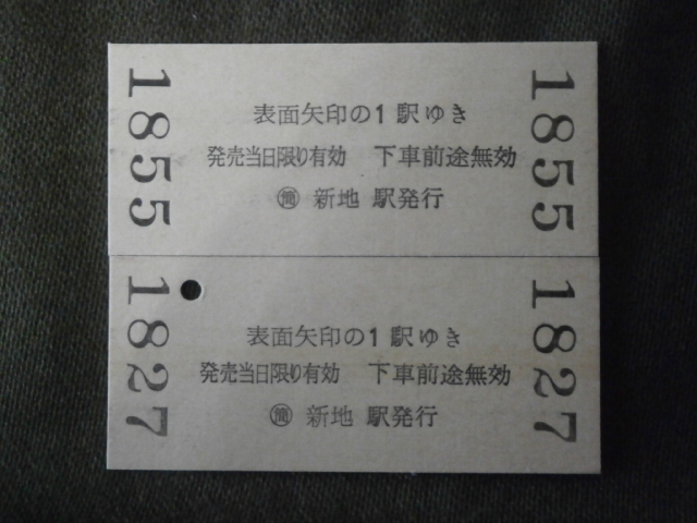 JR東日本 (ム)新地から相馬・駒ヶ嶺ゆき切符2枚組(未使用)_画像3
