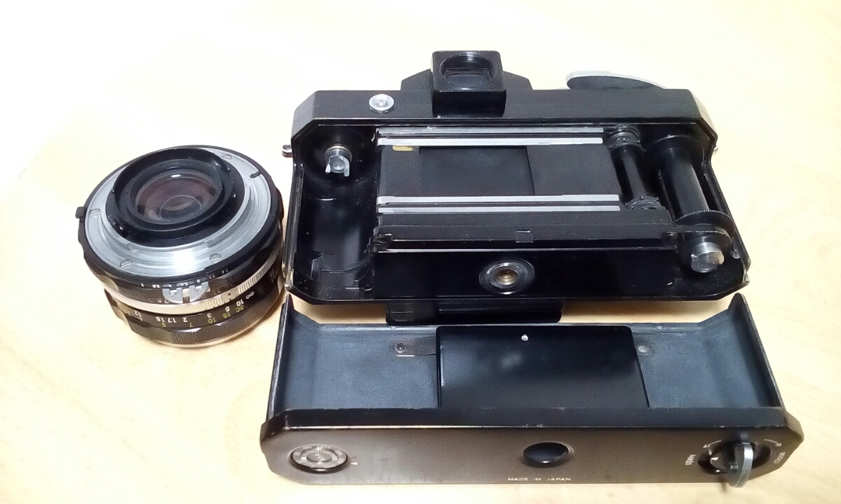 Nikon F ブラックNIKKOR H 1:2 f=50mm ジャンク品扱い_画像3
