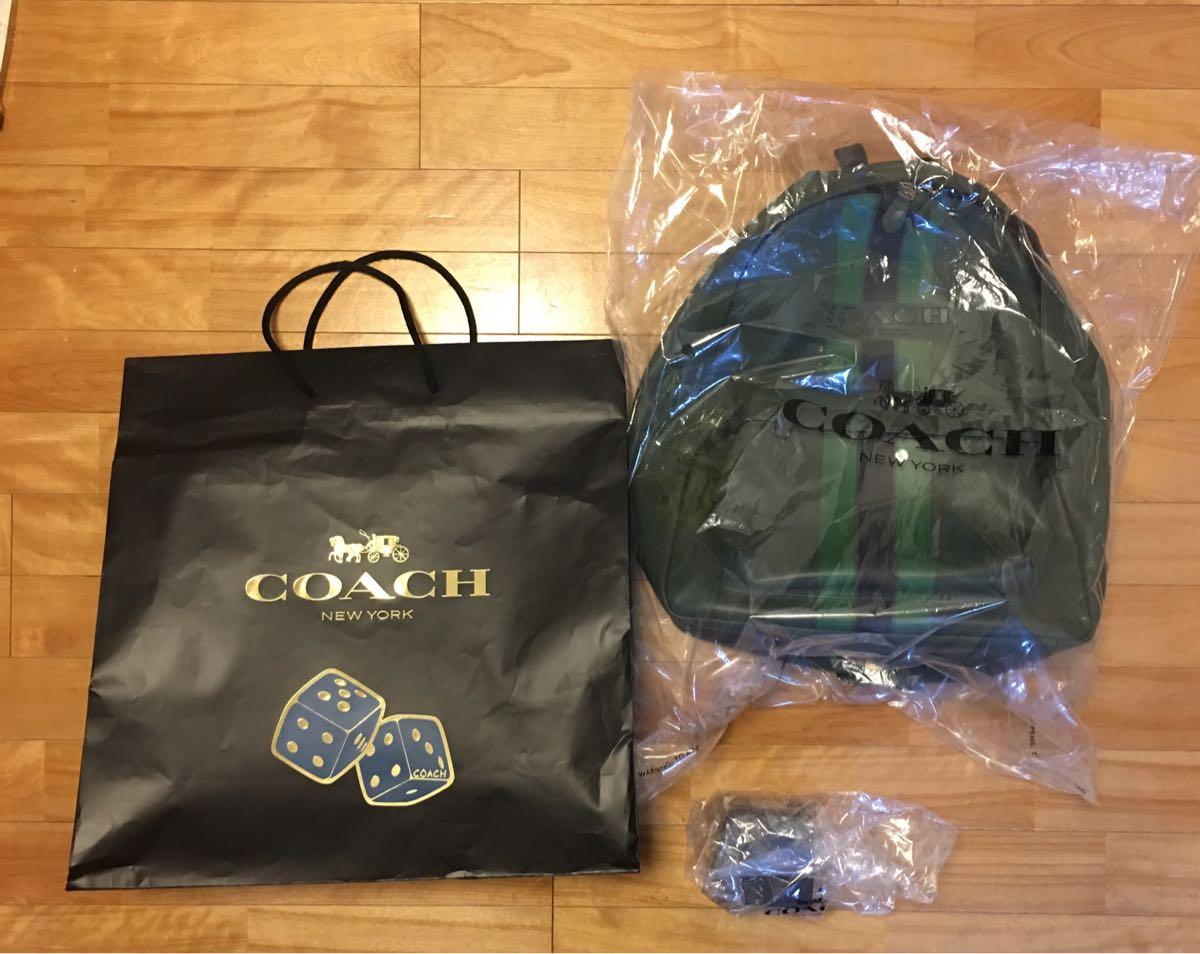 【1円スタート】COACH コーチ メンズ福袋 2018 よりバッグ(リュックサック)とMLBペーパーウェイト ニューヨークメッツ