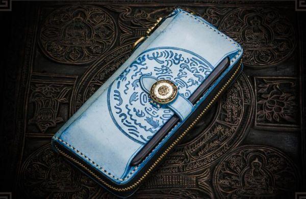 当社 オリジナル伝統工芸職人ブライドルレザー携帯入れあり 最高の逸品メンズ本革☆ラウ