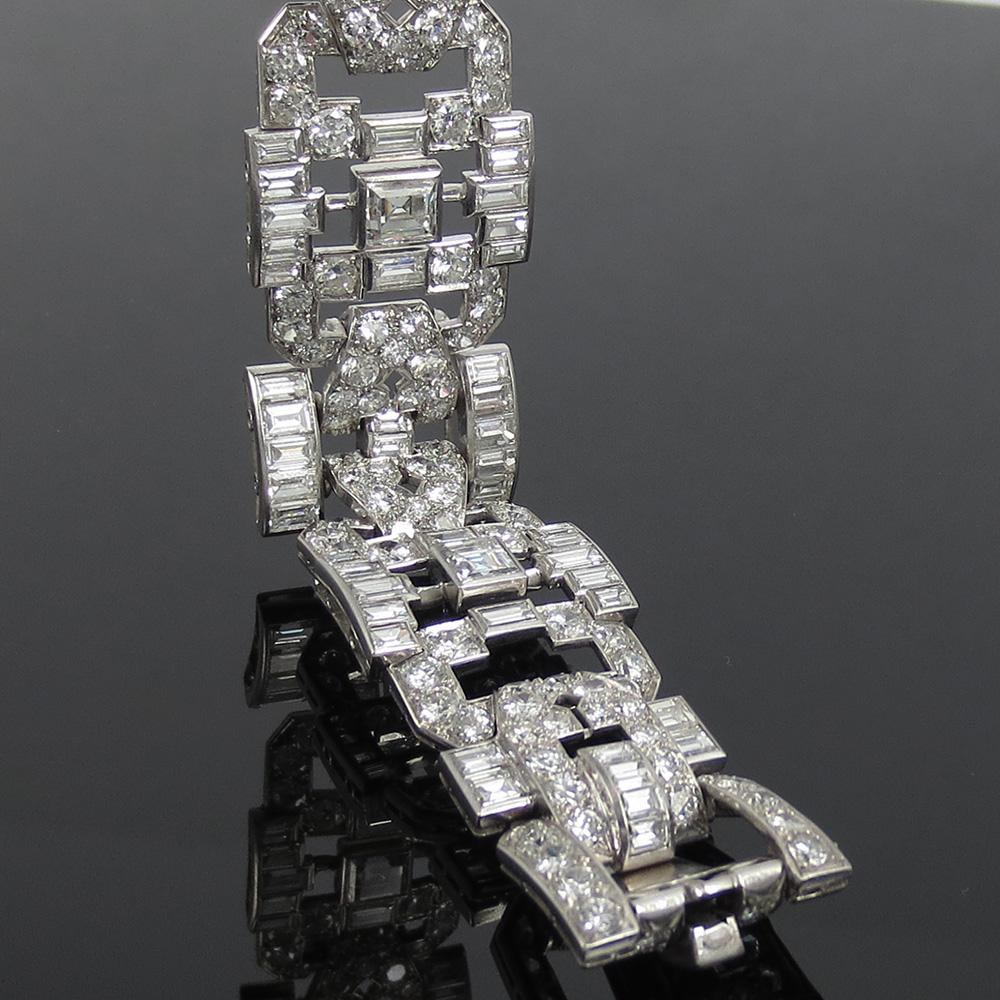 アンティーク《33ct ダイヤモンドGH/VSヨーロピアン&ステップカット》プラチナ・ブレスレット_画像6