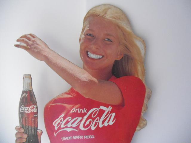 COCA-COLA「コカ・コーラ」等身大パネル☆店頭・看板・POP・スタンディ・昭和・レトロ・当時品・ポスター_画像2